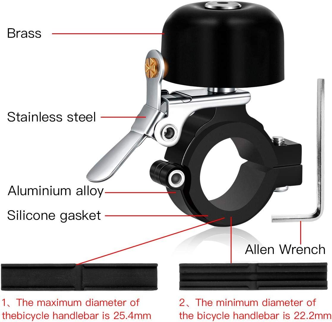 Bike Brass Bell High Noise Cycling MTB Ring Audio Warning Crisp Sound Horn