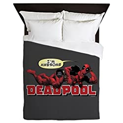 CafePress Deadpool Awesome Queen Duvet Cover, Printed Comforter Cover, Unique Bedding, Microfiber