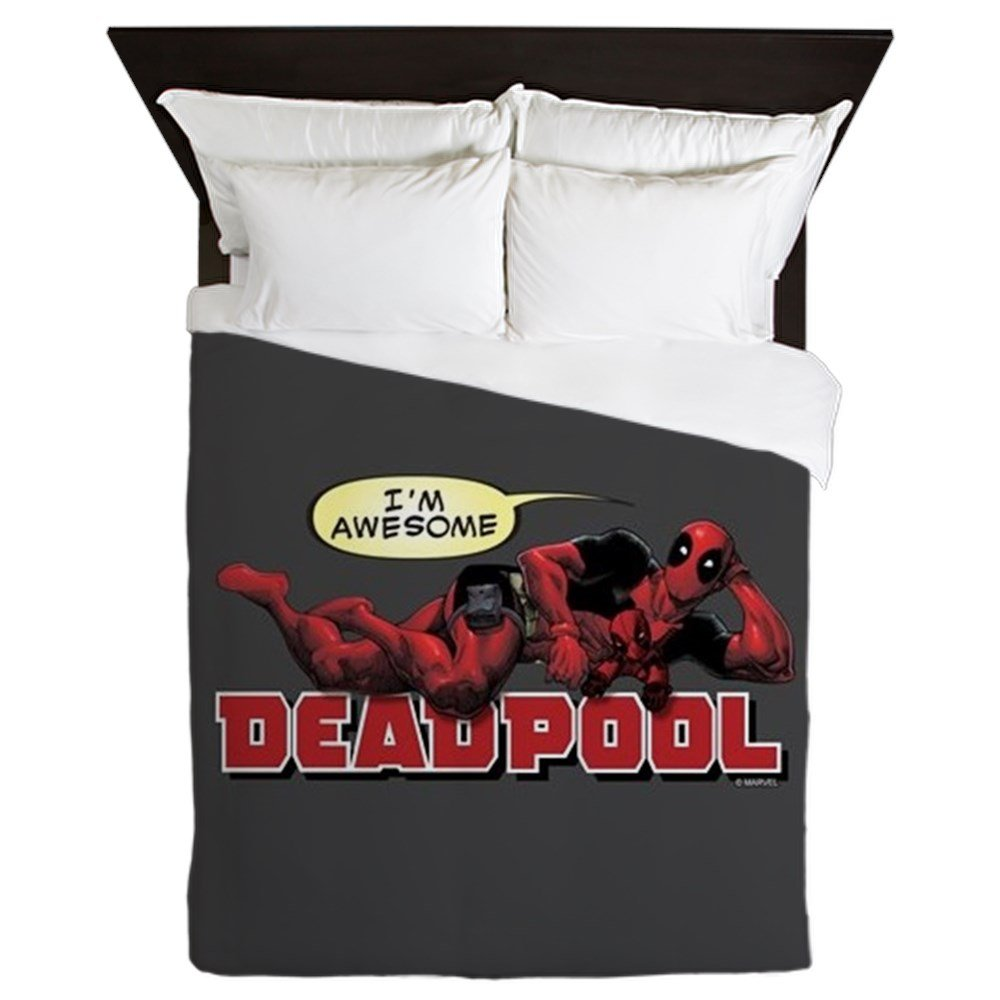 CafePress Deadpool Awesome - Queen Duvet Cover, Printed Comforter Cover, Unique Bedding, Microfiber