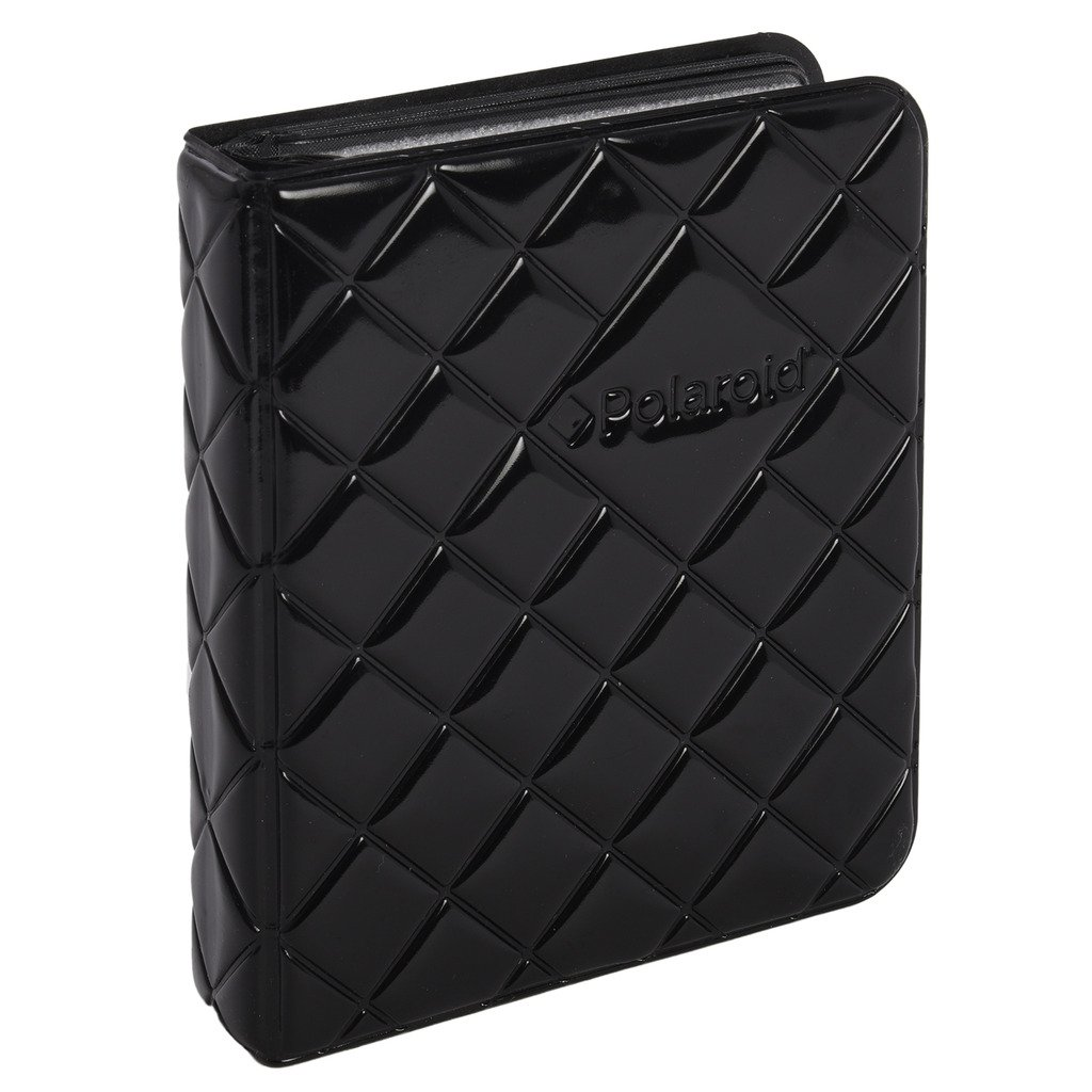 64-Pocket Photo Album w/Sleek Quilted Cover For Fuji Instax Mini 9, 26, 8, 7 Instant Camera - Black