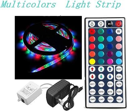 5M 3528 RGB 300 Led SMD Flexible Light Strip Lamp 44 key IR//12V 2A Power Supply
