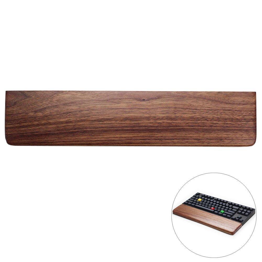 lzttyeeクリエイティブソリッド木製Wrist Restパッド機械キーボードホルダー人間工学Palm Restブラックウォールナット 87-Key 87-Key  B07CNBJKFY