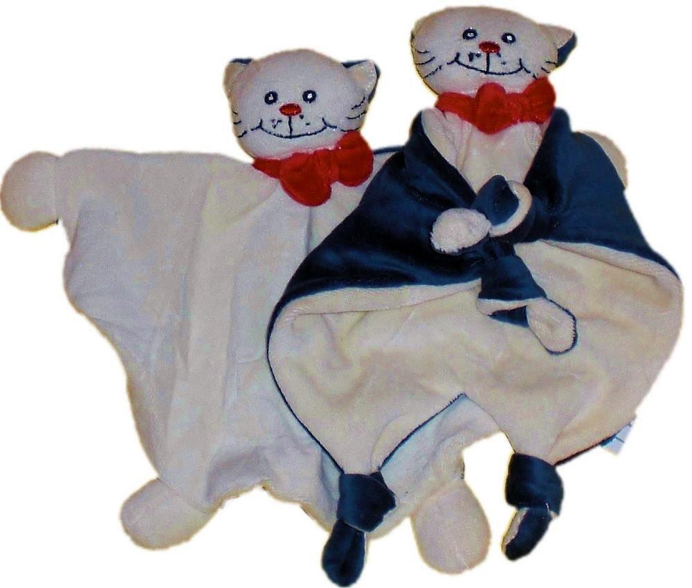 Schnuffeltuch Schmusetuch Katze Mia beige dunkelviolett Twin Set Bieco 05-000100km-x Tr/österchen
