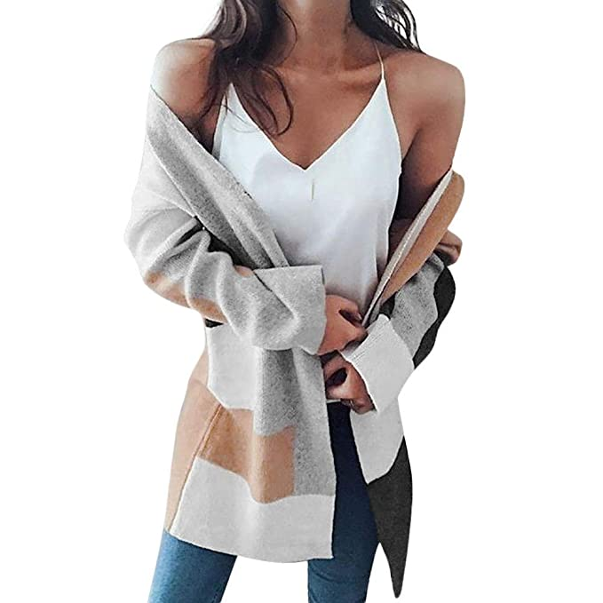 b743e2e70eac03 Womens Winter Baggy Cardigan Coat Long Chunky Knitted Oversized Sweater  Jumper Jackets(Multicolor