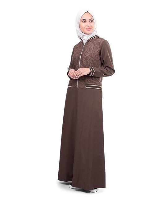 Amazon.com: Silk Route Jilbab Maxi vestido deportivo con ...
