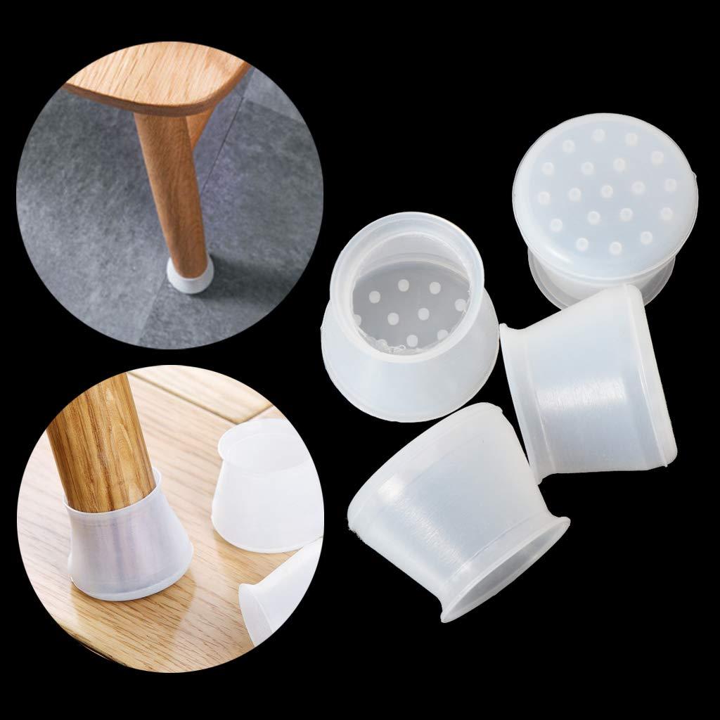 VIccoo 4 Piezas Silla de Silicona Patas en Las piernas Cojines Muebles Cubiertas de Mesa Protectores de Piso