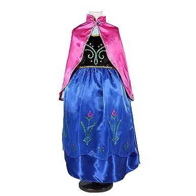 anna winter dress disney frozen inspired costume cosplaykid halloween 3t 10y 3t4t - Halloween Anna Costume