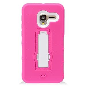 Alcatel TRU Case, IECUMIE ARMOR Skin Protective Cover Case with Stand for Alcatel TRU - Light Pink (Package includes a Stylus Pen)