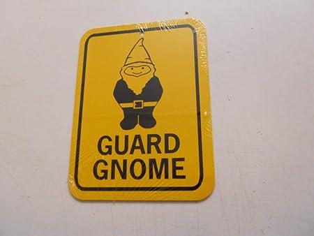 Dozili Cartel de Aluminio con Texto en inglés Guard GNOME ...