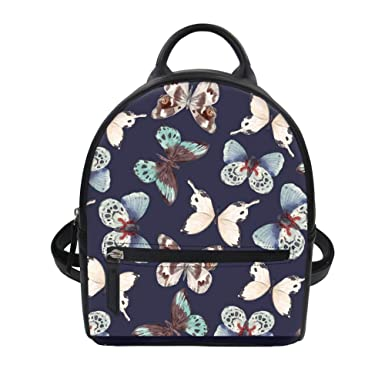 Amazon.com  Instantarts Maltese Flower Adorable Women Girls PU Leather Mini  Backpack Purse Shoulder Bag  Clothing a9c10daf2e508