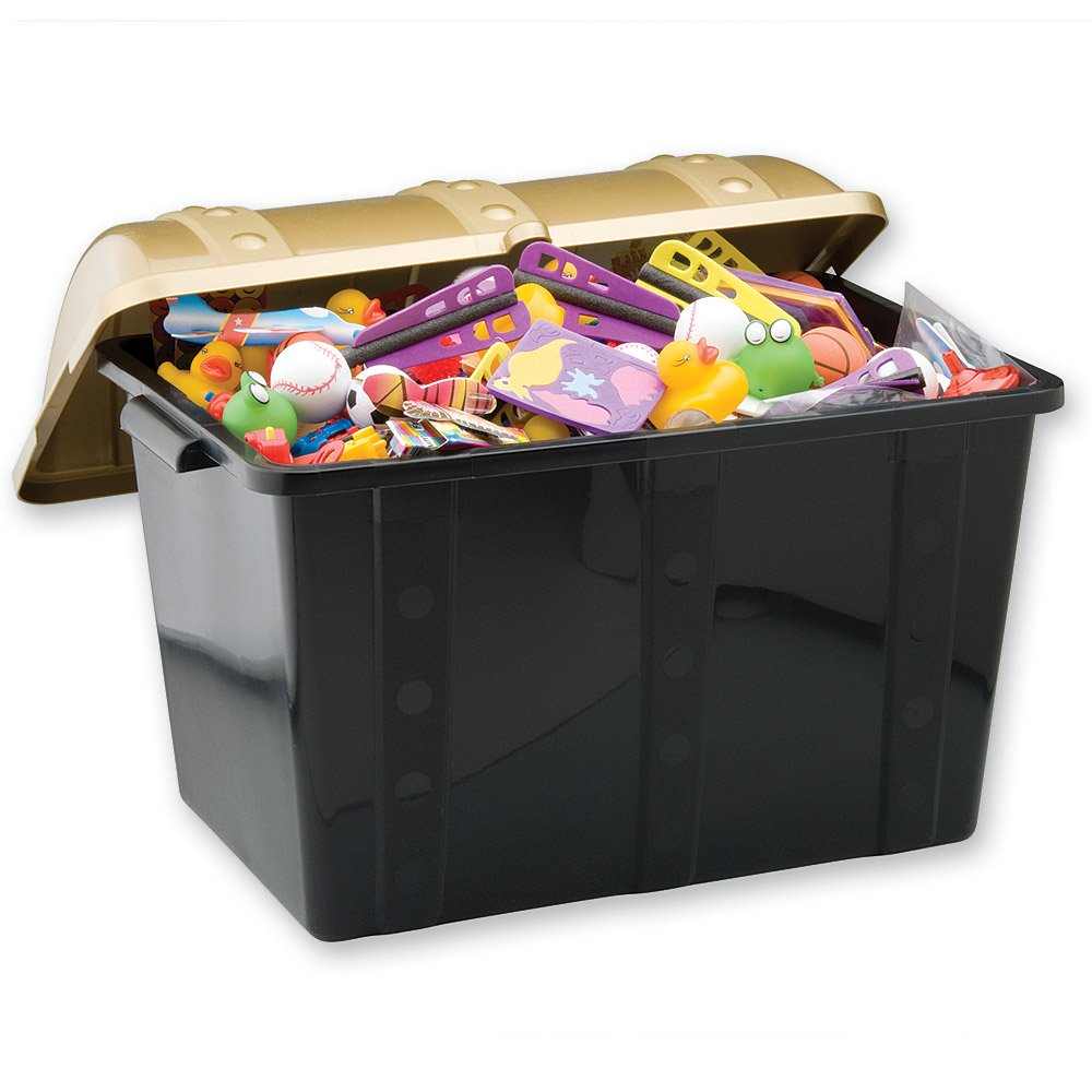 Super Size Plastic Treasure Chest - 500 toys by SmileMakers (Image #1)