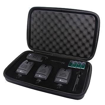Picada Pesca Detector de picada con LED 3 + 1 juego Anti Robo Volumen Ajustable: Amazon.es: Deportes y aire libre