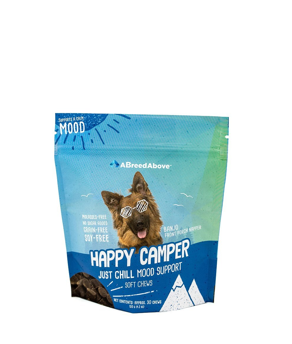 A Breed Above: Happy Camper Just Chill Mood Calming Support, 30 Count