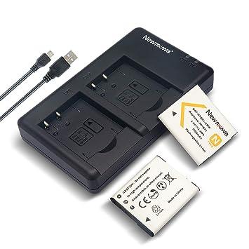 Amazon.com: DU - Batería para cámara y cargador USB doble ...