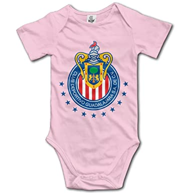 8785619b93d Club Deportivo Chivas USA Pink Funny Short Sleeves Variety Baby Onesies  Bodysuit For Babies Size 12