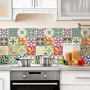 24 piezas adhesivo para azulejos 20x20 cm ps00049 for Stickers para azulejos cocina