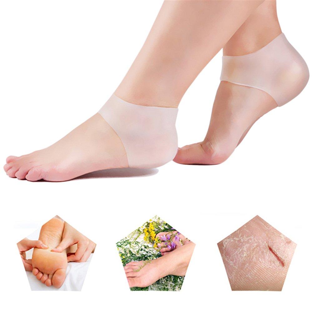 Pair Gel Heel Socks Silicone Moisturizing Protector Sleeve Cracked Foot Cushion Pad Skin Care