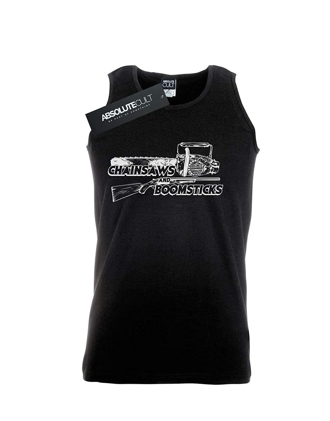 Absolute Cult Alex Chenery Mens Chainsaws and Boomsticks Tank Top