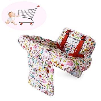 Kinder Einkaufswagen Sitzkissen Kinderstuhl Stuhlkissen Baby Sitzmatte Rosa !