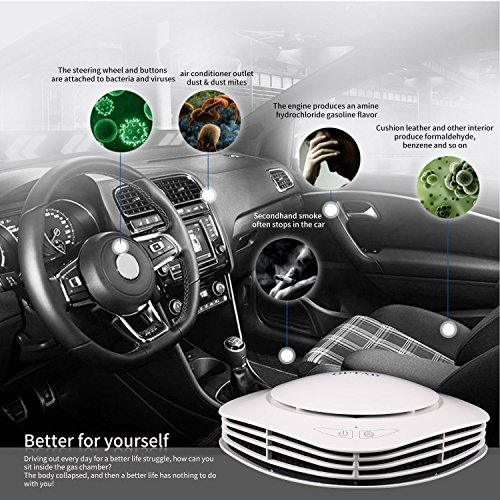 Car Air Purifier Car Air Freshener and Ionic Air Purifier Remove