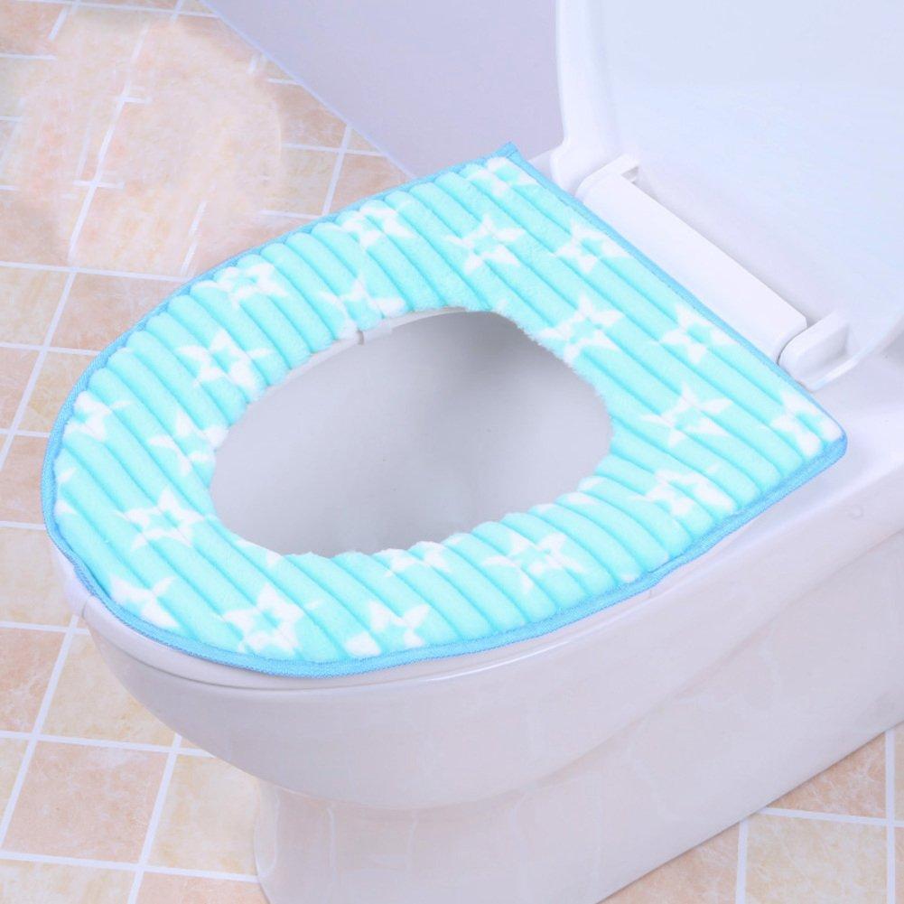 Badausstattung 14x17inch WC Zubehör lililili Fügen sie art Wc sitzbezug,Austauschbare Anti-rutsch Weich warm bequem Pu-rücken Sitzabdeckung Waschmaschine gewaschen .-B 35x43cm