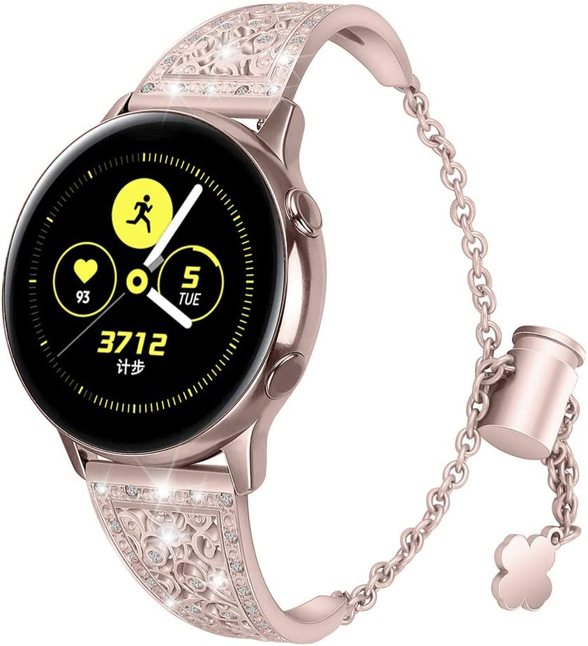 Aottom Correa Reloj Compatible con Samsung Galaxy Watch Active 2 44mm 40mm,Correa para Reloj 20mm Pulseras Mujer Diamante Reloj Galaxy Watch 42mm para Samsung Galaxy Watch Active/Active 2/Gear Sport