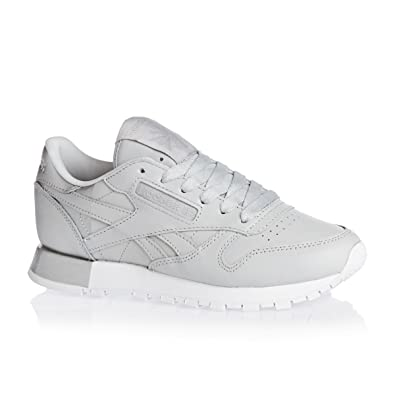 Reebok Classic Leather Matte Shine Damen Sneaker Grau