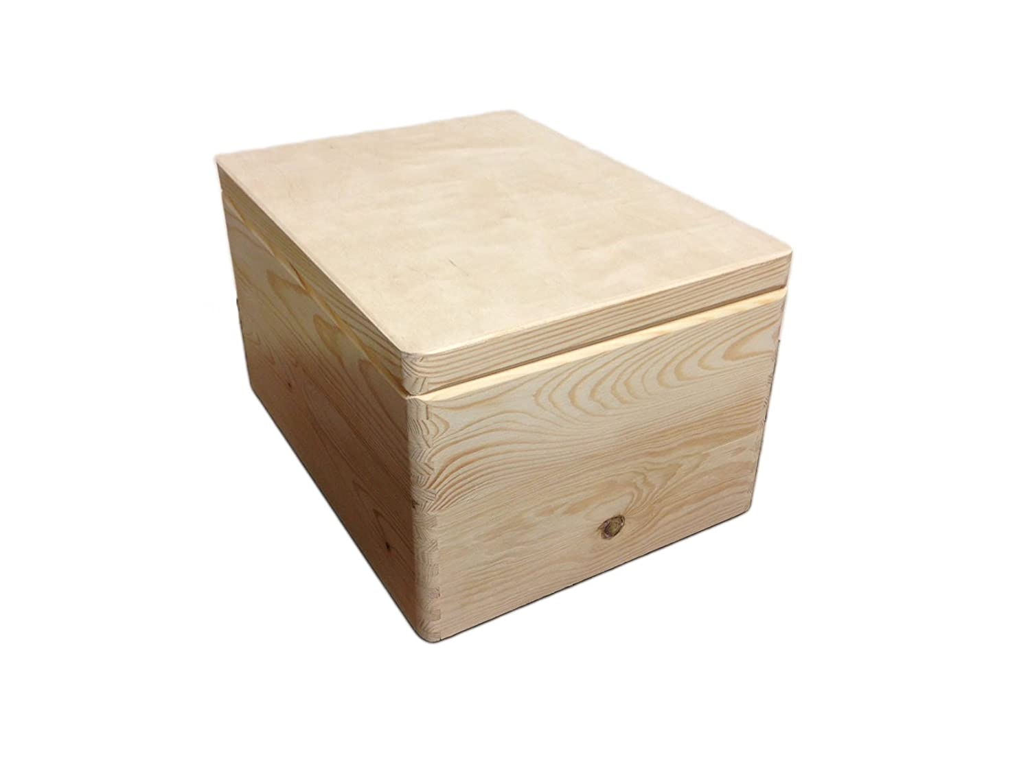 2 x PLAIN WOODEN STORAGE CHESTS KIDS BEDROOM TOY BOX BOX CRATE 39.5x 30x 24cm HomeDecoArt