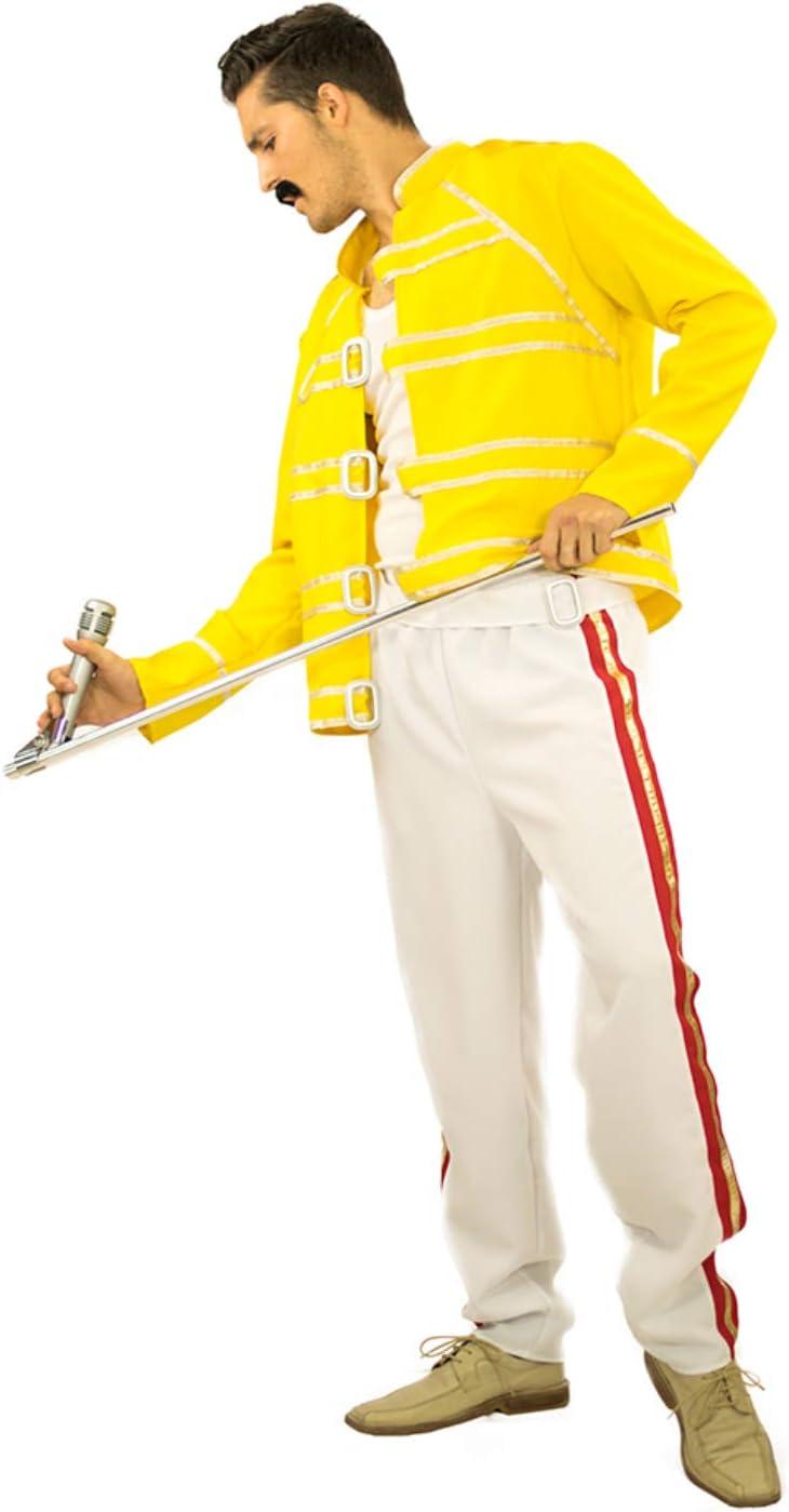 Limit Disfraz de Hombre Cantante de Rock Estrella Freddie Blanco ...