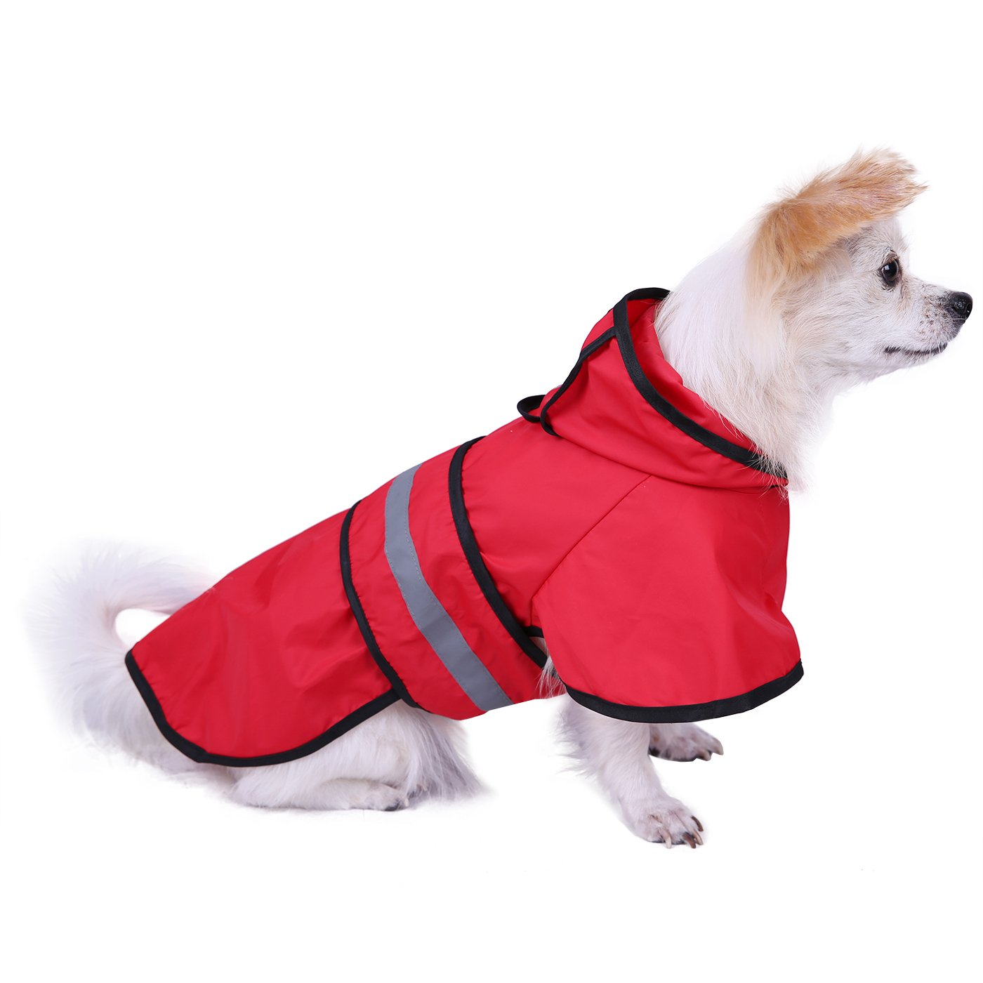 HDE Dog Raincoat Hooded Slicker Poncho for Small to X-Large Dogs and Puppies (Red, Medium) by HDE (Image #1)