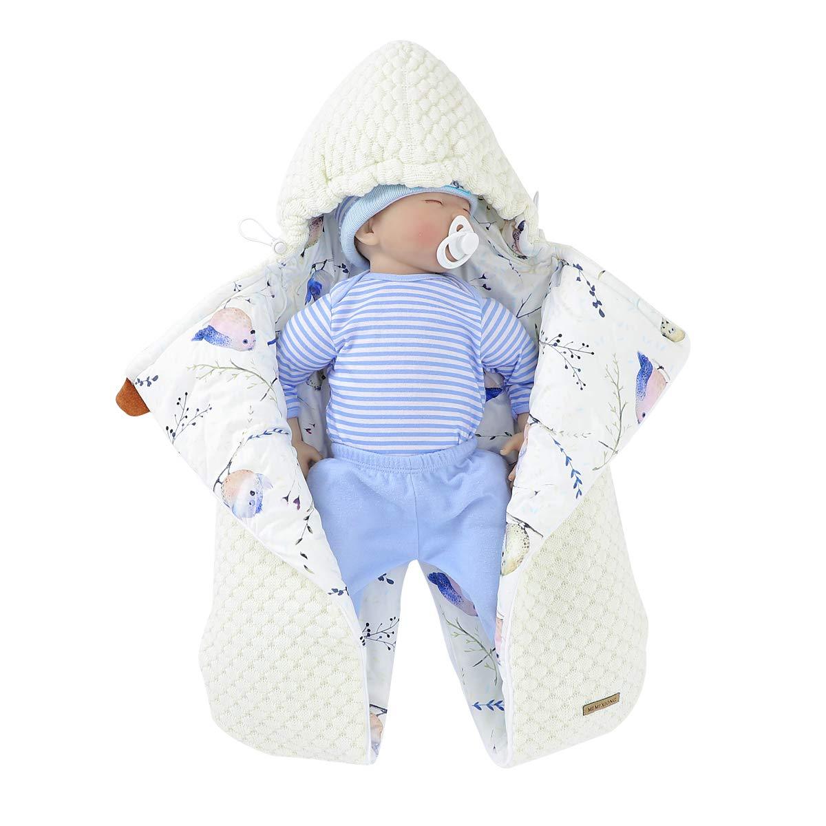 mimixiong Baby-Wickeldecke 12 Monate f/ür 0 weicher Schlafsack f/ür Neugeborene