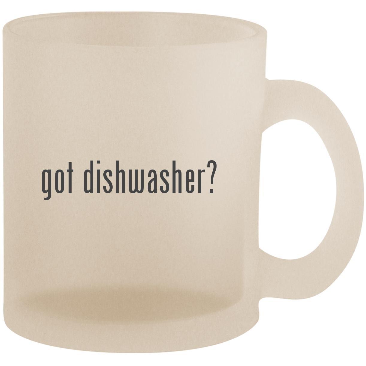 got dishwasher? - Frosted 10oz Glass Coffee Cup Mug