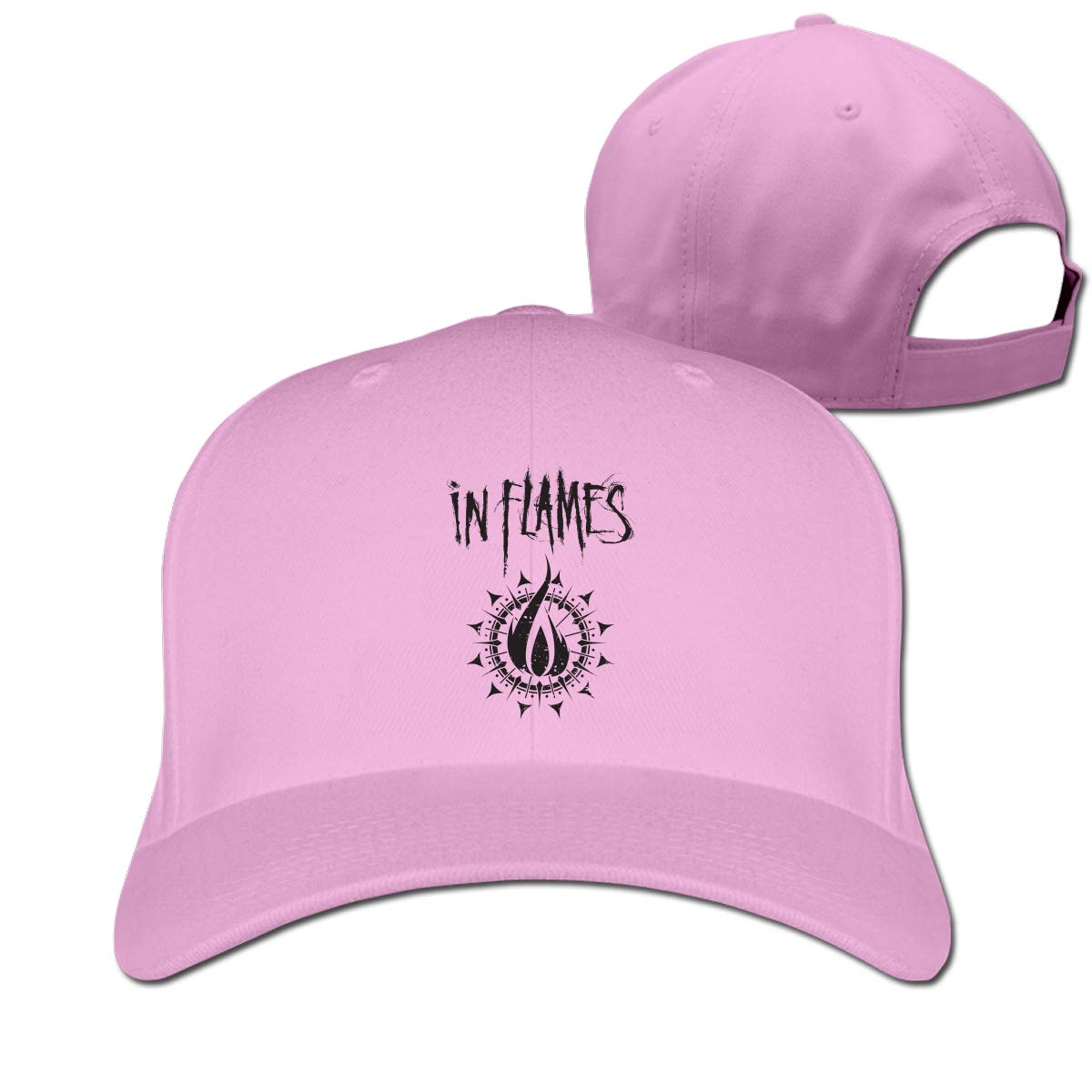 in Flames Classic Adjustable Cotton Baseball Caps Trucker Driver Hat Outdoor Cap Fitted Hats Dad Hat Pink