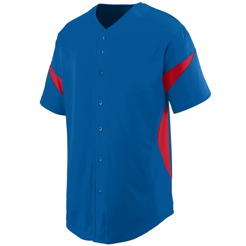 Augusta SportswearメンズホイールHouse Baseball Jersey B00P53SA3G X-Large|ロイヤル/レッド ロイヤル/レッド X-Large