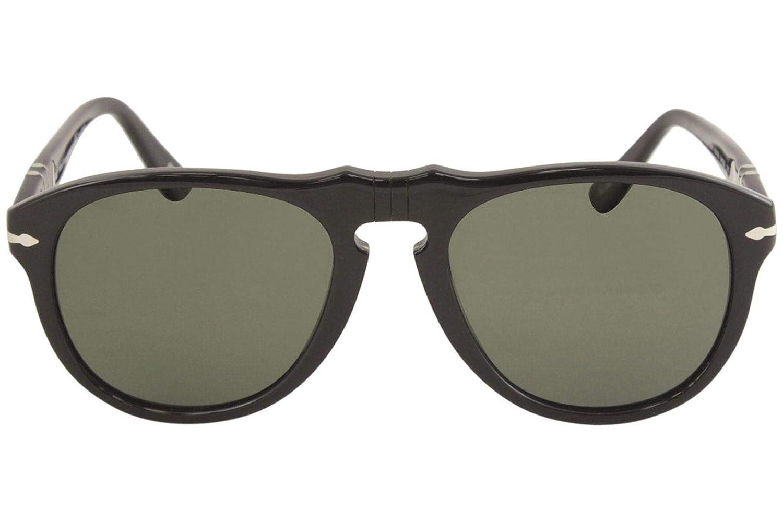 d1e5955deb49b Persol Men s Polarized PO0649-95 58-54 Black Aviator Sunglasses  Persol   Amazon.ca  Sports   Outdoors