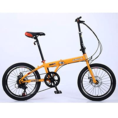 LINGS Foldable Bicycle Kids' Bikes Folding Bicycle Child Lightweight Adult Bicycle Ultra Light Portable Student Bicycle Variable Speed Spoke Wheel 16 inch Suitable for Height 120cm-160cm: Home & Kitchen