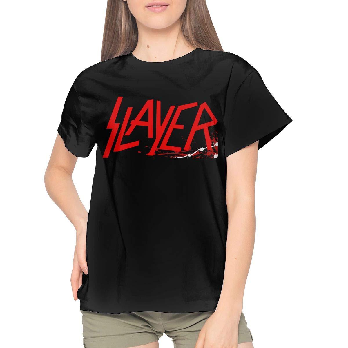 Slayer Band Womans Graphic Print Tshirt Short Sleeve Tee Top