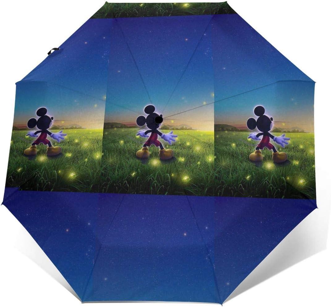 Windproof Travel Umbrella Mickey Under The Stars Compact Folding Umbrella Automatic Open//Close