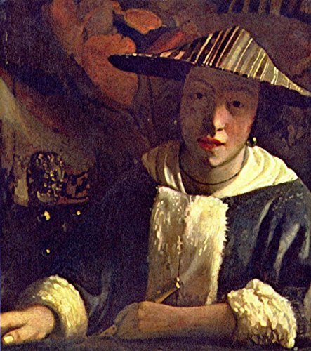 (Gifts Delight Laminated 17x19 Poster: Jan Vermeer - Girl with a Flute, c.1666 - Johannes)