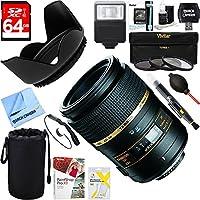 Tamron AF272C-700 90mm F/2.8 DI SP AF Macro 1:1 Lens For Canon EOS + 64GB Ultimate Filter & Flash Photography Bundle