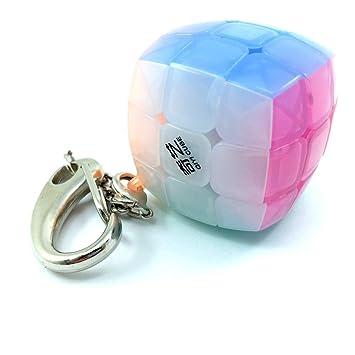 QiYi LEVEL25 Llavero 3x3x3 Velocidad Colores Jelly. Cubo 3x3 ...