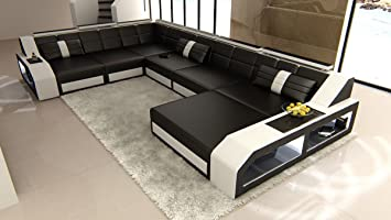 XXL Conjunto de Muebles Para Salón MATERA XXL Blanco y Negro ...