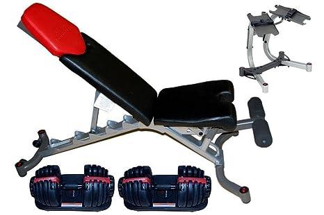 Bowflex Completo set de mancuernas 552 ajustable 5.1 banco soporte