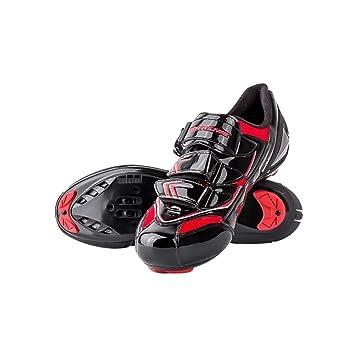 RONDA Zapatillas De Ciclismo Carretera, Impermeables para Hombres, Sudor Absorbente, Ligero, Transpirable, Resistente, Antideslizante, Bicicletas De Cierre ...