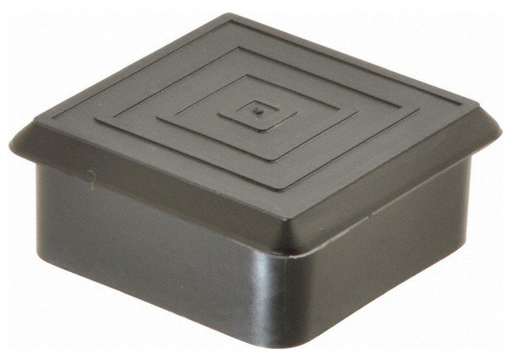 Square Head Plug, 1-1/2 OD, Polyethylene, Black 100 Pack
