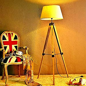 Retro LED Tripod Floor Lamp 3000k Warm White
