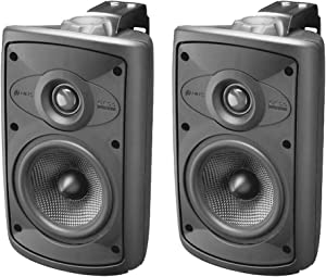 Niles OS5.5 Black (Pr) 5 Inch 2-Way High Performance Indoor Outdoor Speakers.