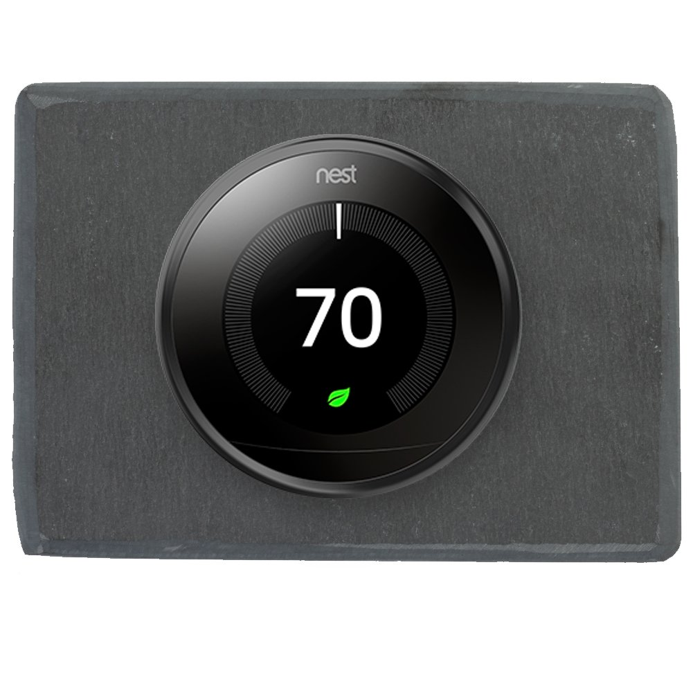 Koyal Wholesale Thermostat Trim Plate for Nest, Wall Plate (Rectangle 6'' x 4.33'', Slate Rock) by Koyal Wholesale (Image #1)