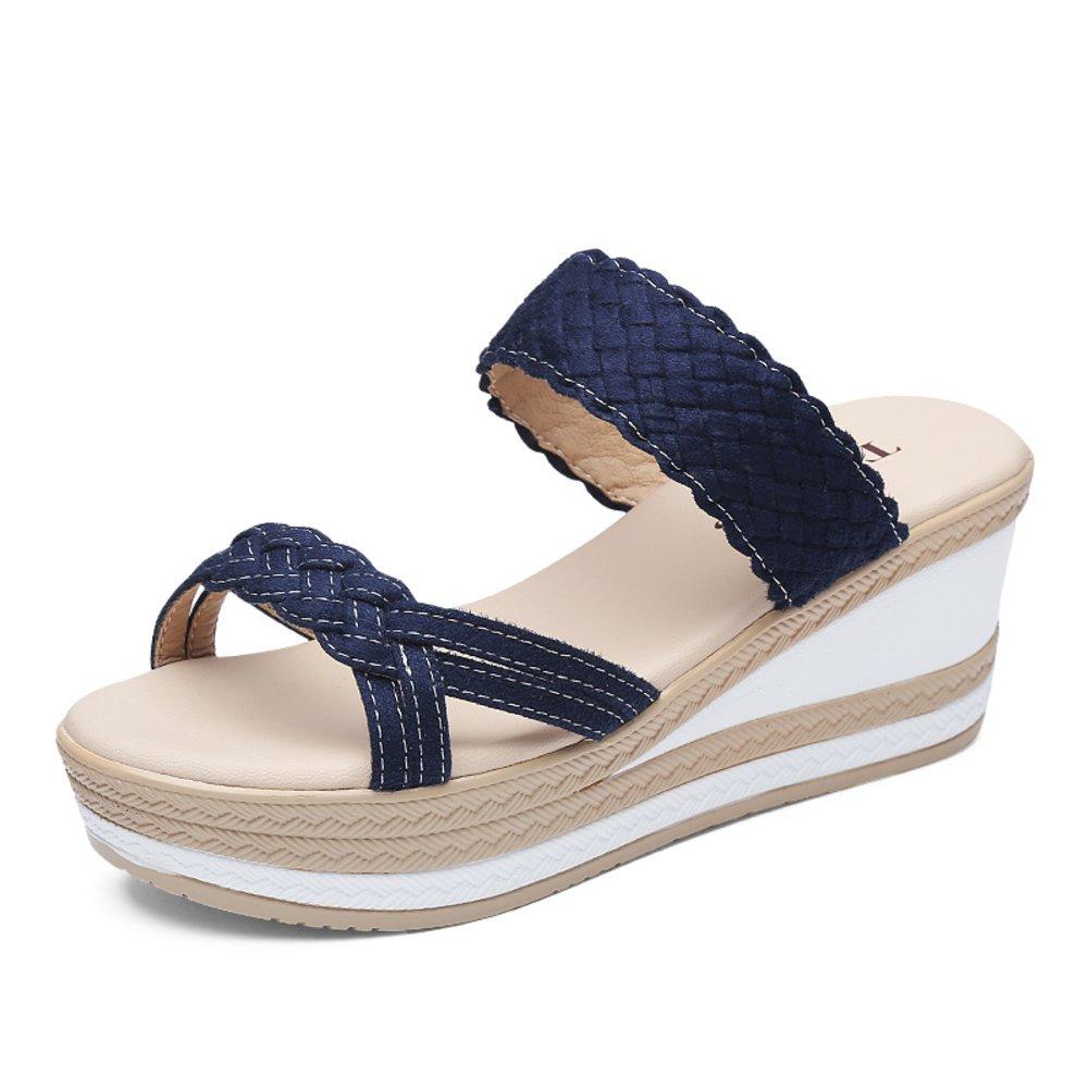 Dame,Sommer,Hausschuhe Wedges B Sandalen Und Pantoffeln B Wedges e58e31