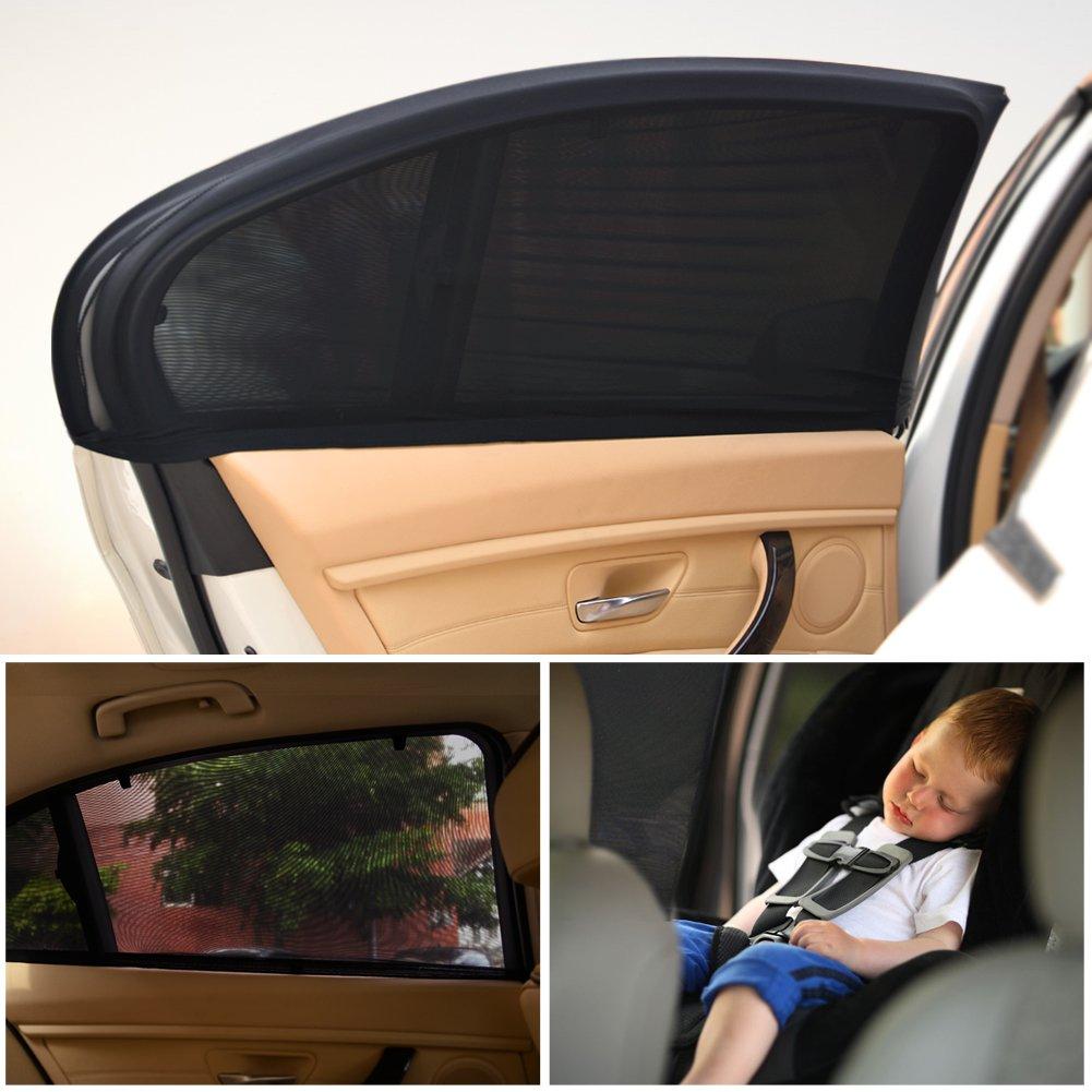 Parasol Voiture Nuances de Fenêtre de Voiture pour Bébé- Bloquer les Rayons UV - Protégez Votre Enfant et Animaux-2 Pièce